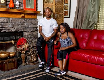 India Hardy, and her brother, Rico, suffer regular bouts of severe pain when their sickle cell disease flares up. (Johnathon Kelso for WABE)