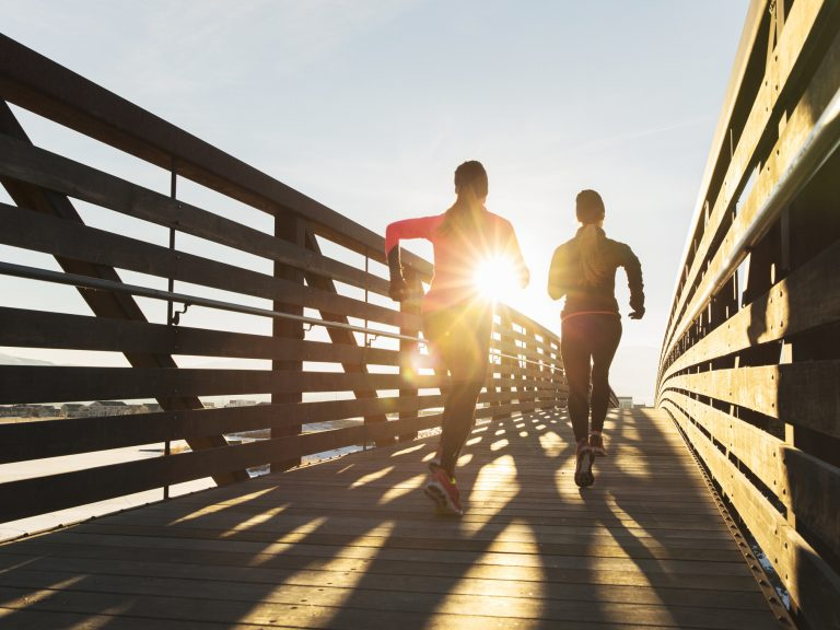 Running and other moderate exercise can protect against lifestyle disease. A new study shows training for a marathon slows cardiovascular aging. (RichVintage/Getty Images)