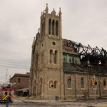 The Greater Bible Way Temple at 1461 N. 52nd St., was severely damaged by fire in August 2019. (Emma Lee/WHYY)
