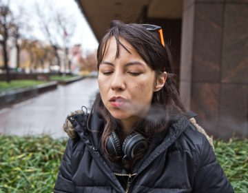 Reporter Liz Tung quit smoking with e-cigarettes. (Kim Paynter/WHYY)