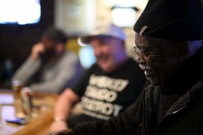 Ronald Stanley Webb, Andy and Stosh's dad, sits at the bar at Deer Lake & West Brunswick Fire Company No. 1, the first place he and his wife felt accepted as a couple in Schuylkill after marrying in the 1960s. (Bas Slabbers for Keystone Crossroads)