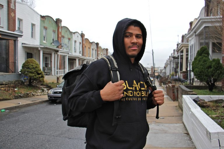 David Cabello is the founder of Black and Mobile, an online food delivery service in Philadelphia that partners with and highlights Black-owned businesses. (Emma Lee/WHYY)
