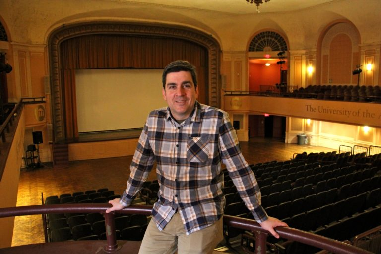 Lightbox Chief Curator Jesse Pires has relocated the film center to The University of the Arts, where screenings will resume this month. (Emma Lee/WHYY)
