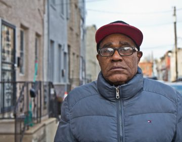 Rodney Everett, 61, takes a walk in his Grays Ferry neighborhood. He is worried that living near the former Philadelphia Energy Solutions refinery may make him sick. (Kimberly Paynter/WHYY)