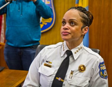 Philadelphia Police Department's new Commissioner Danielle Outlaw, spoke with local members of the media for the first time on Wednesday. (Kimberly Paynter/WHYY)