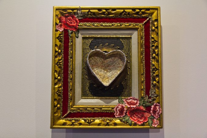 A Trashed Heart valentine by Dana McCall. (Kimberly Paynter/WHYY)