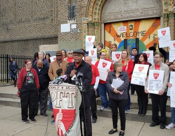 Jerry Jordan speaks about new plan to fix schools (Tom MacDonald/WHYY)