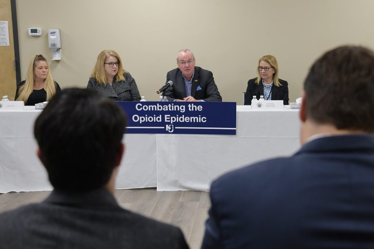 Governor Phil Murphy holds a roundtable discussion on combating the opioid epidemic at Ocean Mental Health Services in Bayville, New Jersey, on February 4, 2020. (Governor's Office)