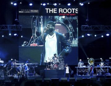 The Roots perform during the annual Roots Picnic at the Mann Center in Philadelphia's West Fairmount Park on Saturday, June 1, 2019. This is the event's first time at the Mann Center. (Tim Tai/The Philadelphia Inquirer via AP)