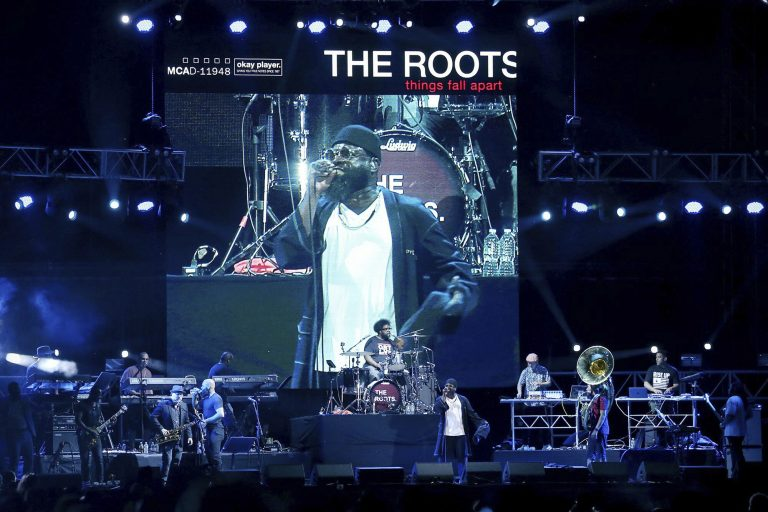 The Roots perform during the annual Roots Picnic at the Mann Center