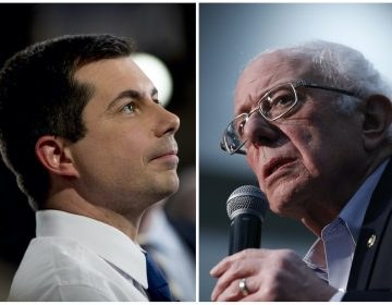 Democratic presidential candidate former South Bend, Ind., Mayor Pete Buttigieg speaks with a reporter following a FOX News Channel Town Hall at the River Center, Sunday, Jan. 26, 2020, in Des Moines, Iowa. (Andrew Harnik/AP Photo)