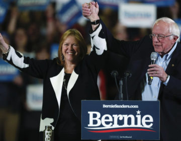 Democratic presidential candidate Sen. Bernie Sanders, I-Vt., with his wife, Jane O'Meara Sanders. (David Zalubowski/AP Photo)