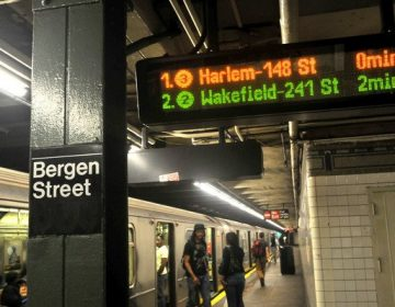 An MTA countdown clock shows time until the next trains to arrive at the New York system's Bergen Street station in Brooklyn. (MTA)