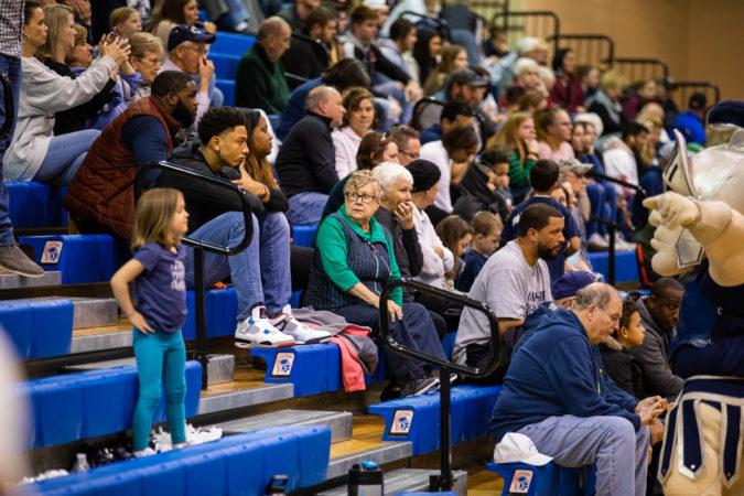Scenes from a Chambersburg high school basketball game in December 2019. (Jeffrey Stockbridge for Keystone Crossroads)
