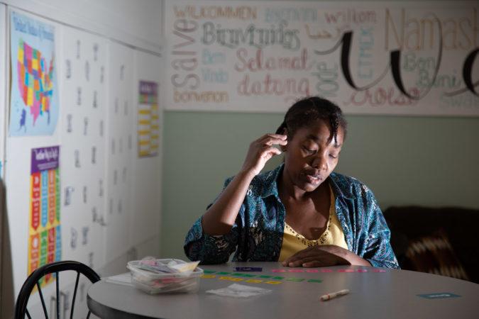 Chantal Marie takes classes at the King Street Ministry Center. (Jeffrey Stockbridge for Keystone Crossroads)