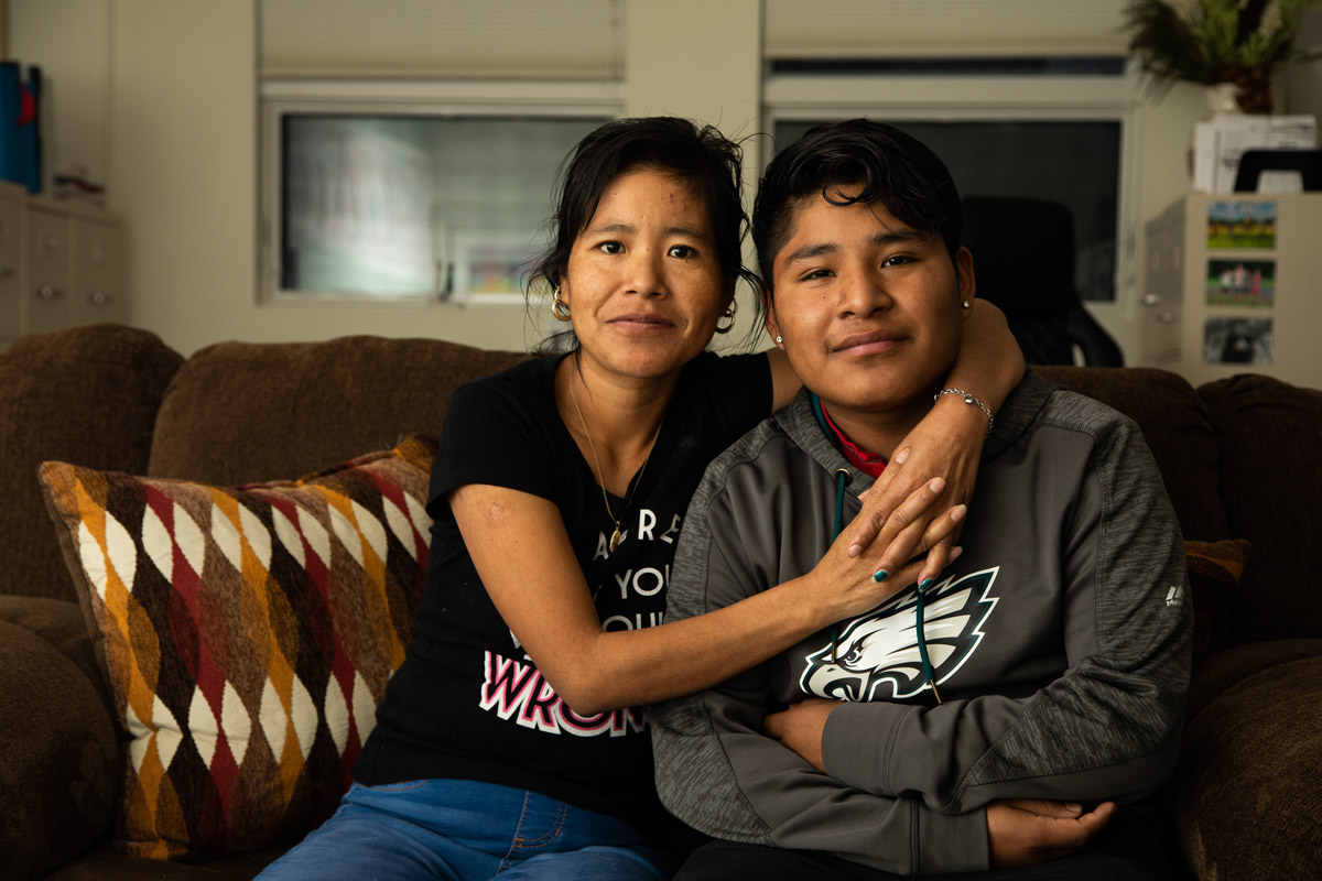 Margarita, Fredy and his two younger sisters traveled to Chambersburg from their home in western Guatemala in 2018, and later petitioned for asylum in the U.S. (Jeffrey Stockbridge for Keystone Crossroads)