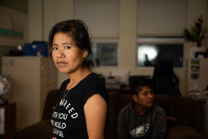 Margarita Morales Garcia made the trek from Guatemala to Chambersburg with her three children in 2018. The await the results of their asylum case. (Jeffrey Stockbridge for Keystone Crossroads)