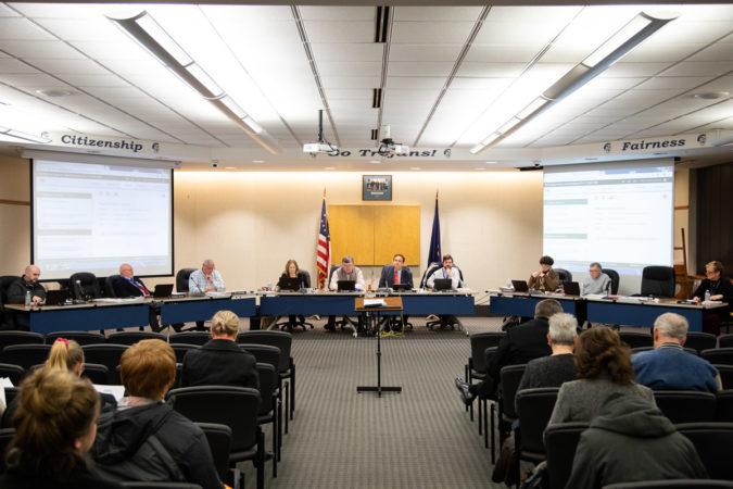A Chambersburg School Board meeting, December 2019. (Jeffrey Stockbridge for Keystone Crossroads)