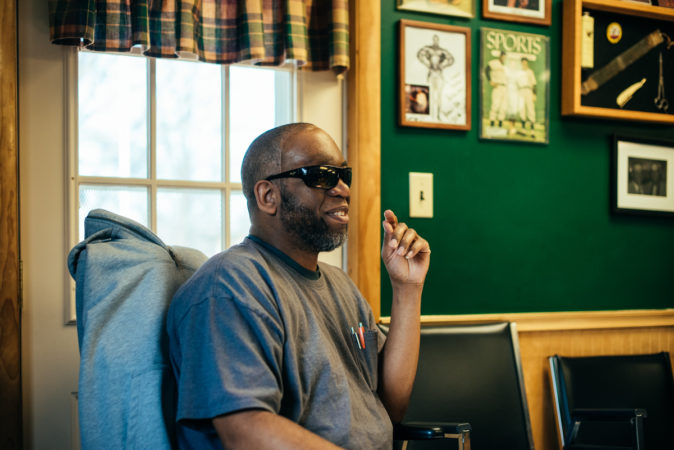 Lemar Best doesn't talk politics often, but when he does, it's at Walker's. (Dani Fresh for Keystone Crossroads)