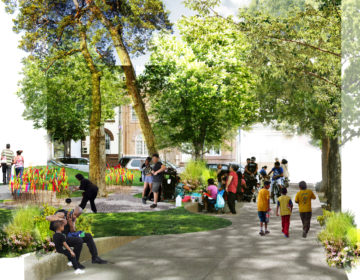 Mifflin Square neighbors have been imagining the park they want for four years. Now that dream, conceptualized in the rendering above, is being designed in partnership with the city. (Courtesy of SEAMAAC & HECTOR)