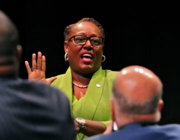 Philadelphia Register of Wills Tracey Gordon is sworn in on Jan. 6, 2020. (Emma Lee/WHYY)