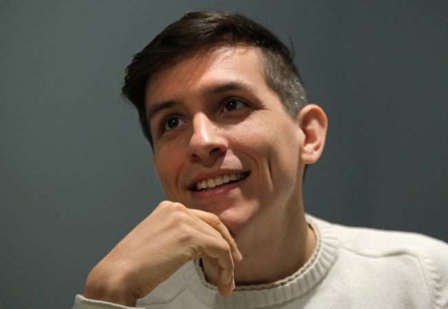 Former Reading Eagle beat reporter Anthony Orozco at Mi Casa Su Casa. (Matt Smith for Keystone Crossroads)