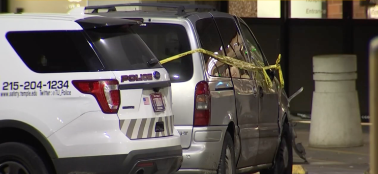 Authorities say a pregnant woman and her child were killed in a double shooting that critically injured a man in north Philadelphia. (Screenshot/NBC 10 Philadelphia)