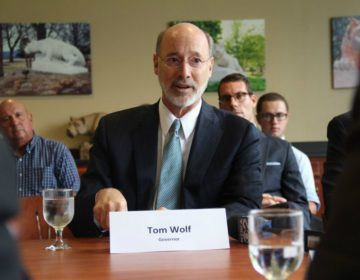 Gov. Tom Wolf hosted a roundtable discussion in Beaver County in 2016 to tout the benefits of the ethane cracker plant Shell is planning to build. (Reid R. Frazier / StateImpact Pennsylvania)
