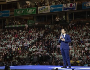 Democratic presidential candidate and former South Bend, Ind., Mayor Pete Buttigieg speaks during a Democratic fundraising dinner on Saturday. Buttigieg is coming under attack from rival candidates for his relative lack of experience. (Mary Altaffer/AP Photo)