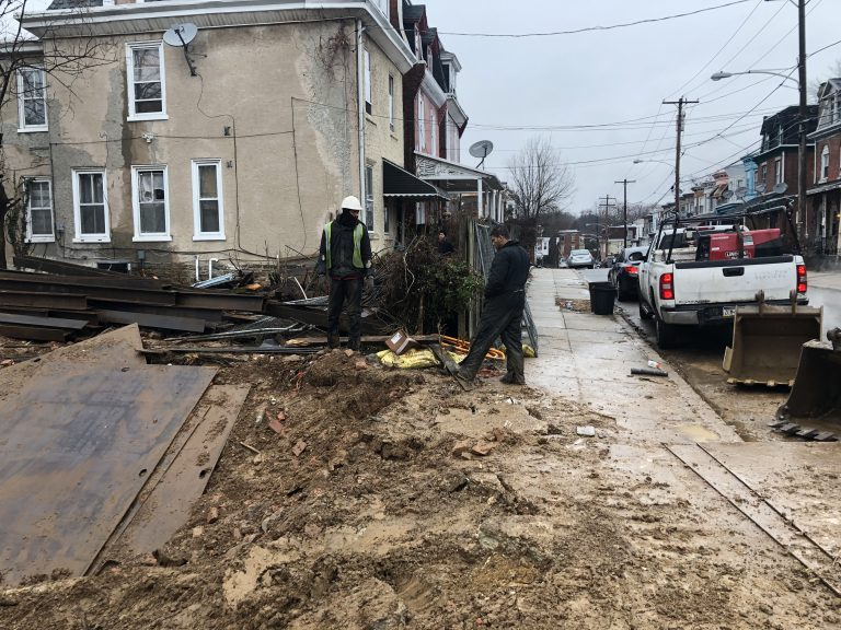 A contractor operated in violation of city codes in Germantown. (Courtesy of Anthony Miller)
