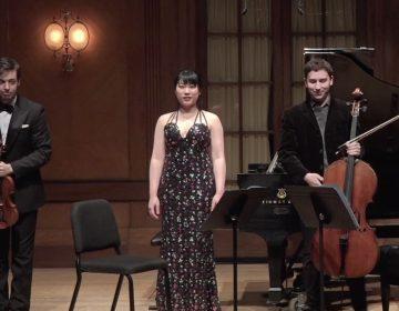 Andrea Obiso, violin; Oliver Herbert, cello; Wei Luo, piano