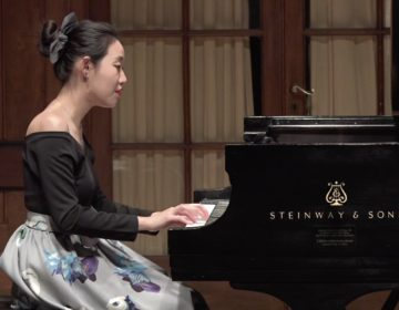 Pianist Ying Li performs on stage at Curtis.