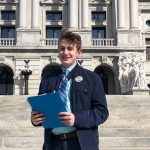 17-year-old Jack DiPrimio went to Harrisburg to file his delegate petitions in person, even though it's not required COURTESY JACK DIPRIMIO