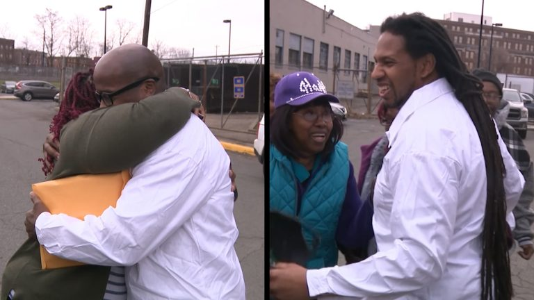 Kevin Baker and Sean Washington, now 48, were released after attorneys uncovered evidence pointing to their innocence. (Courtesy of NJTV)