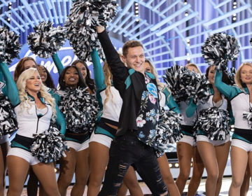 Kyle Tanguay and his Eagles cheer squad on the American Idol audition setINSTAGRAM / @KYLETANGUAY