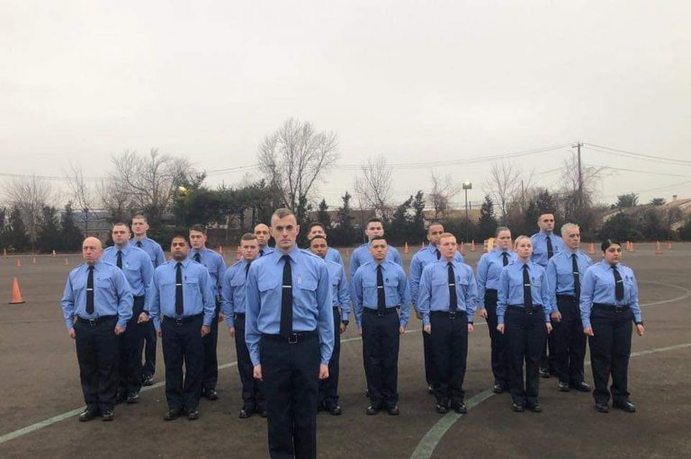 The Philadelphia Police Department's newest class of recruits. (Courtesy of David Fisher.)