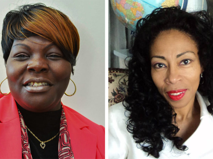 Left: G. Roni Green; Right: Wanda Logan. (Facebook)