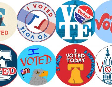 Some of the finalists for Philly's new Election Day sticker CITY COMMISSIONERS