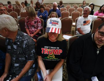 Lisa Mankiewicz sits in the audience during a training session for Women for Trump, An Evening to Empower, in Troy, Mich., Thursday, Aug. 22, 2019. (Paul Sancya/AP Photo)