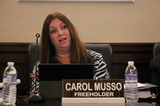 Cumberland County Freeholder Carol Musso. (Emma Lee/WHYY)