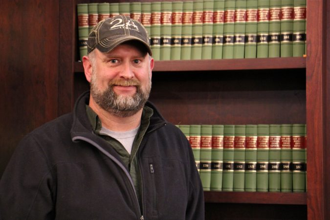 South Jersey businessman Josh Finnical of Downe Township successfully pushed for pro-Second Amendment resolution with the Cumberland County Board of Chosen Freeholders. (Emma Lee/WHYY)