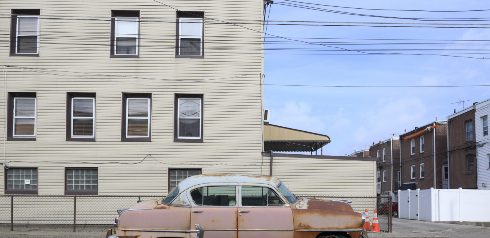 A vintage Plymouth parked near the intersection of Bath and Gillingham Sts. in Bridesburg. (Bastiaan Slabbers for Keystone Crossroads)