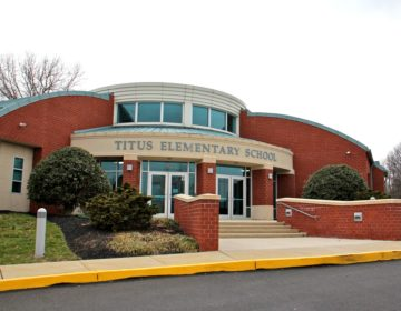 Titus Elementary School in Warrington, Pa. and four other schools in central Bucks County, were shut down Friday, March 6, 2020, as a precaution against the spread of COVID-19. (Emma Lee/WHYY)