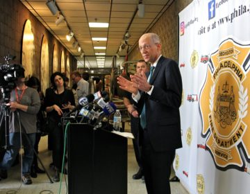 Philadelphia Health Commissioner Thomas Farley answers questions at the city's daily coronavirus briefing at the Fire Administration Building on Friday, March 13, 2020. (Emma Lee/WHYY)
