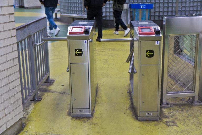 SEPTA turnstiles (Kimberly Paynter/WHYY)