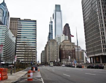 Philadelphia streets have slowed down in the wake of the coronavirus shutdown. (Kimberly Paynter/WHYY)