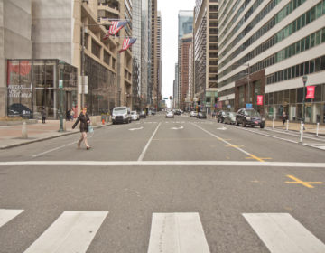 Philadelphia streets have slowed down in the wake of the coronavirus shutdown. (Kimberly Paynter/WHYY)