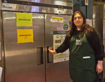 Layla El Tannir is the Special Projects Director at Reading Terminal Market. She is charge of food donations. (Kimberly Paynter/WHYY)