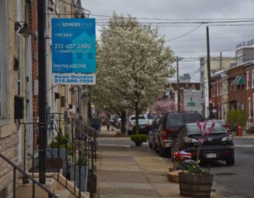 A residential property for sale on Tulip Street in Philadelphia's Fishtown neighborhood. (Kimberly Paynter/WHYY)