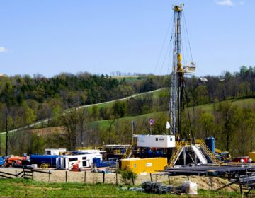 In this April 23, 2010 photo, a Chesapeake Energy natural gas well site is seen near Burlington, Pa., in Bradford County. (Ralph Wilson/AP Photo)